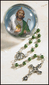 St. Jude Rosary with Case
